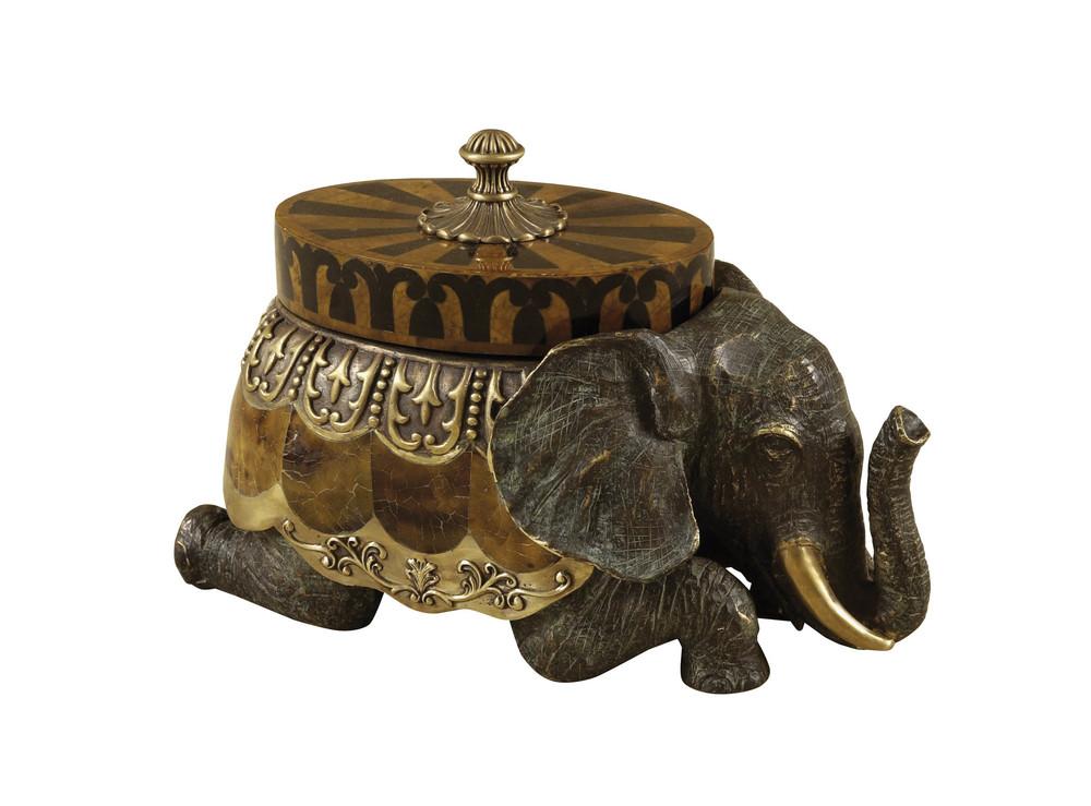 Maitland-Smith - Cast Brass Elephant Box