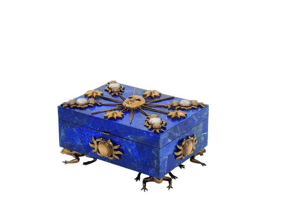 Maitland-Smith - Lapis Lazuli Inlaid Jeweled Box