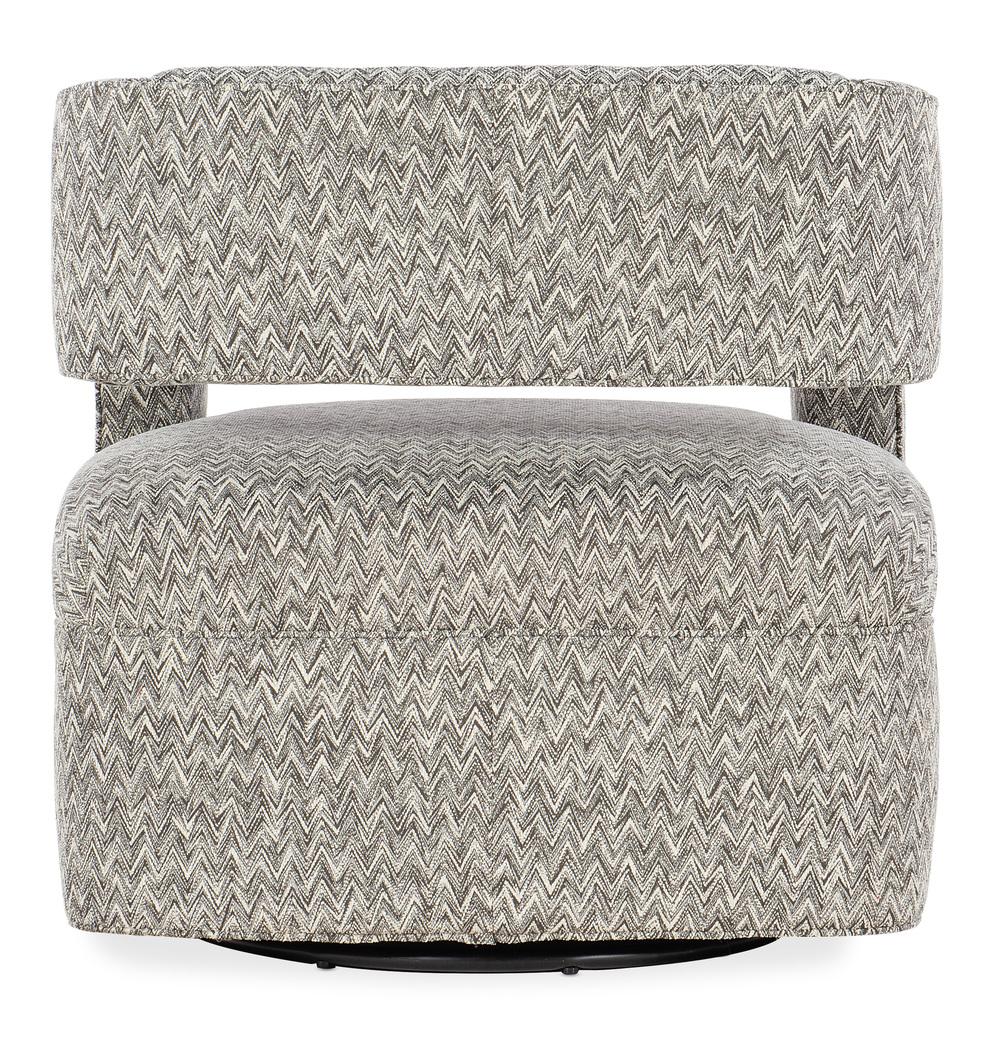 Sam Moore - Maleko Swivel Chair, Metal Base