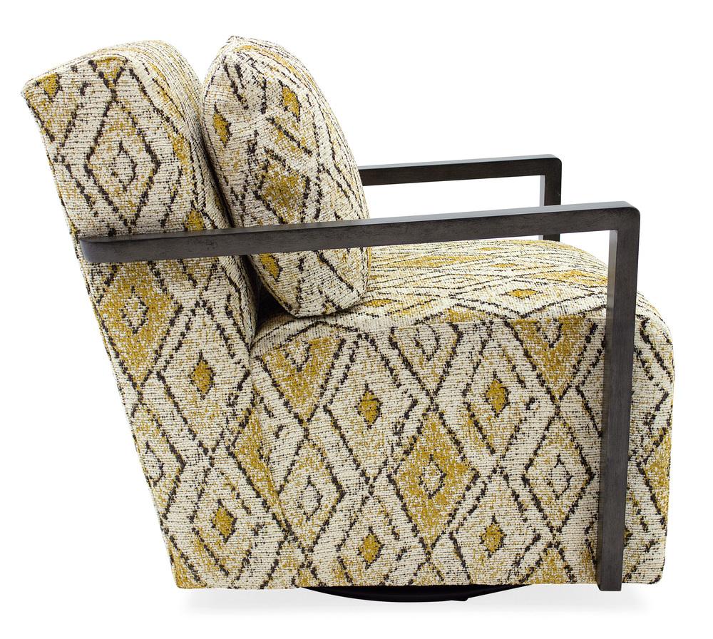 Sam Moore - Creighton Exposed Wood Swivel Chair