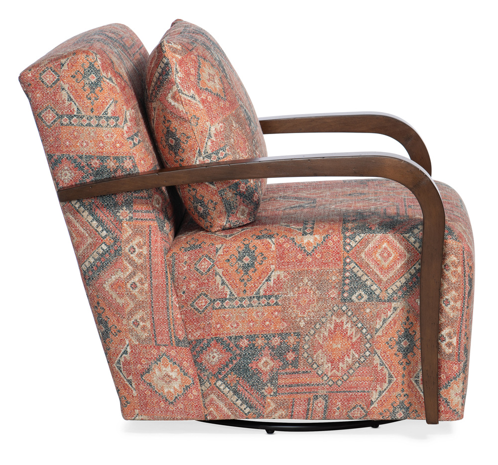Sam Moore - Corley Exposed Wood Swivel Chair