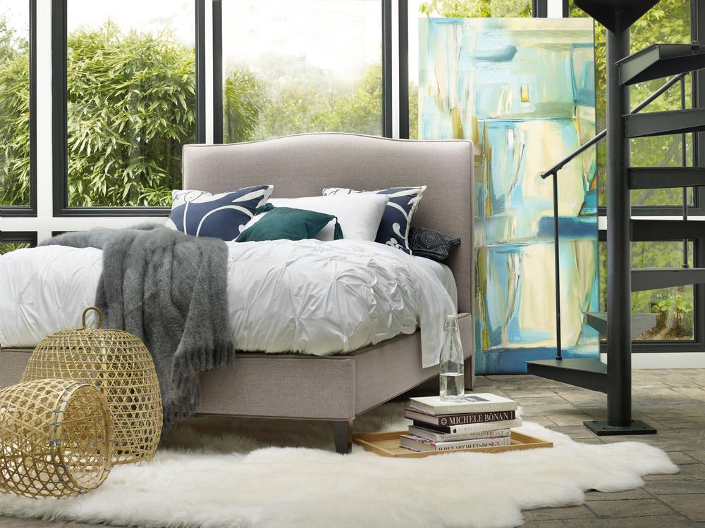 Sam Moore - Wren King Upholstered Bed