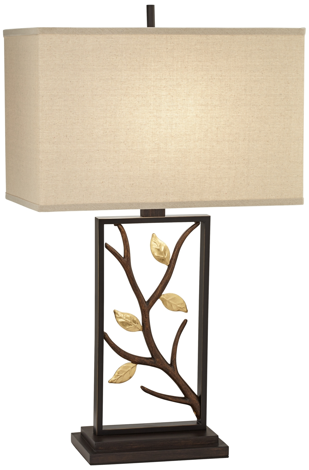 Pacific Coast Lighting - Metal Table Lamp with Branch and Leaves