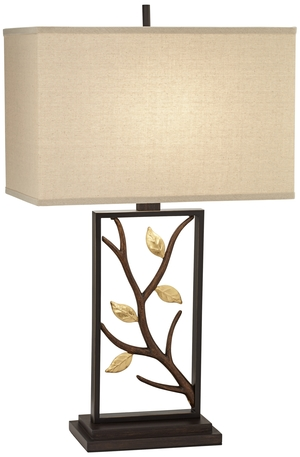 Thumbnail of Pacific Coast Lighting - Metal Table Lamp with Branch and Leaves
