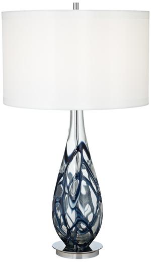Thumbnail of Pacific Coast Lighting - Indigo Swirl Art Glass Table Lamp
