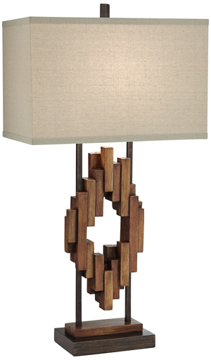 Thumbnail of Pacific Coast Lighting - Bonanza Wood Table Lamp