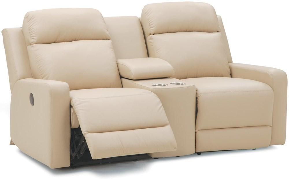 Palliser Furniture - Power Console Loveseat w/ Cup Holder
