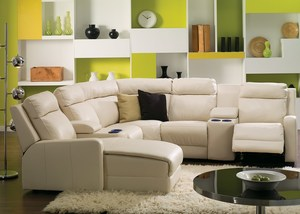 Thumbnail of Palliser Furniture - Power Console Loveseat w/ Cup Holder