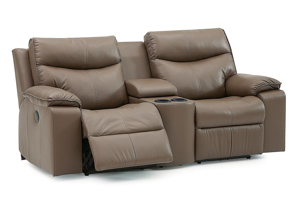 Palliser Furniture - Power Console Loveseat with Cup Holder