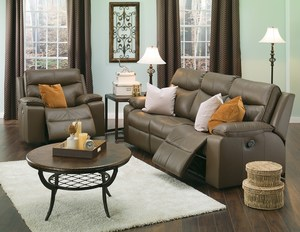 Thumbnail of Palliser Furniture - Power Console Loveseat with Cup Holder