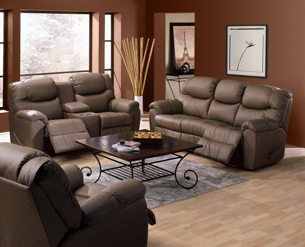 Palliser Furniture - Regent Power Console Loveseat w/ Cup Holder