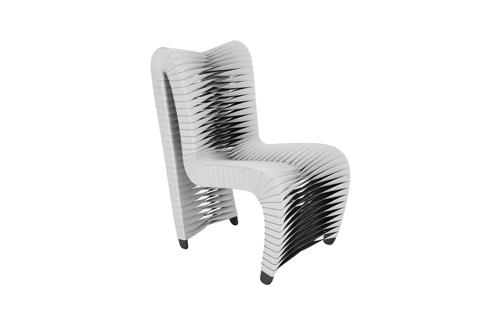 Phillips Collection - Seatbelt Dining Chair V2 Grey/Black