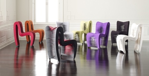 Thumbnail of Phillips Collection - Seatbelt Dining Chair V2 Grey/Black
