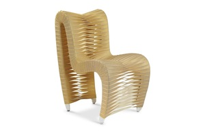 Thumbnail of Phillips Collection - Seat Belt Dining Chair Gold