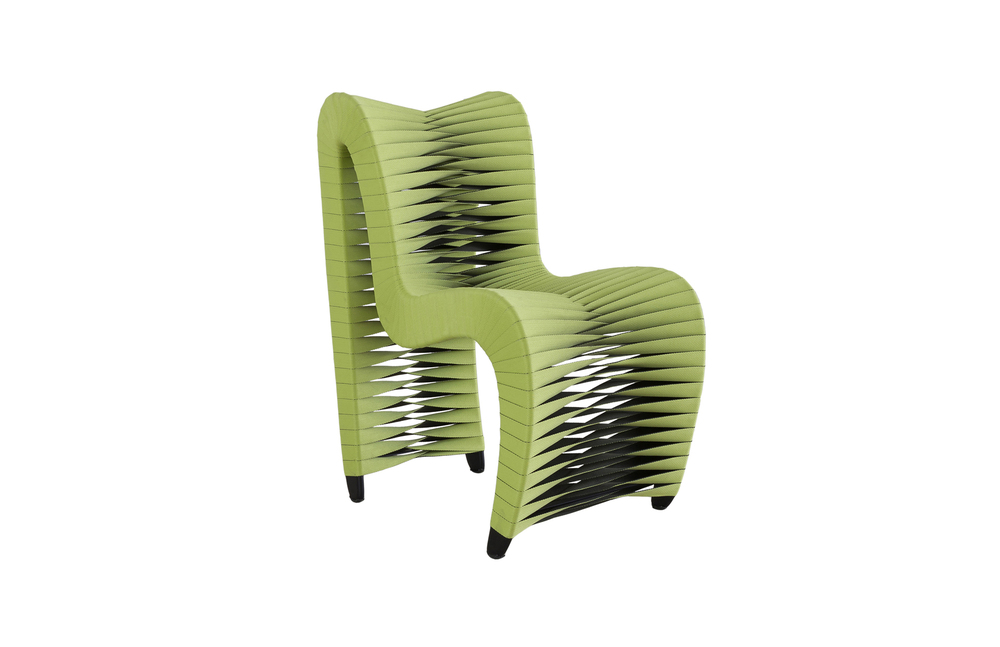 Phillips Collection - Seat Belt Dining Chair in Green