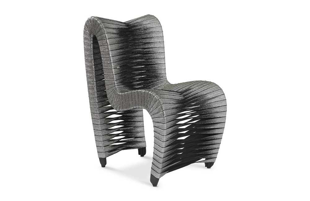 Phillips Collection - Seat Belt Dining Chair Silver