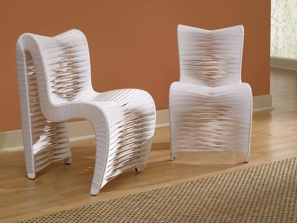 Phillips Collection - Seat Belt Dining Chair in White