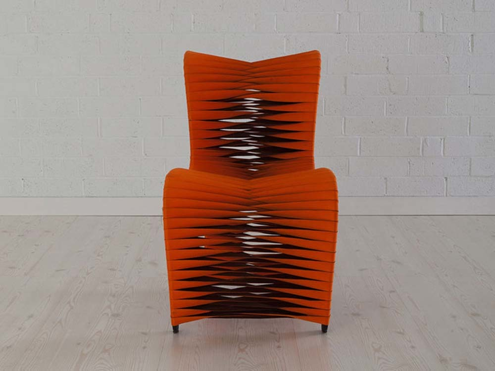 Phillips Collection - Seat Belt Dining Chair Orange