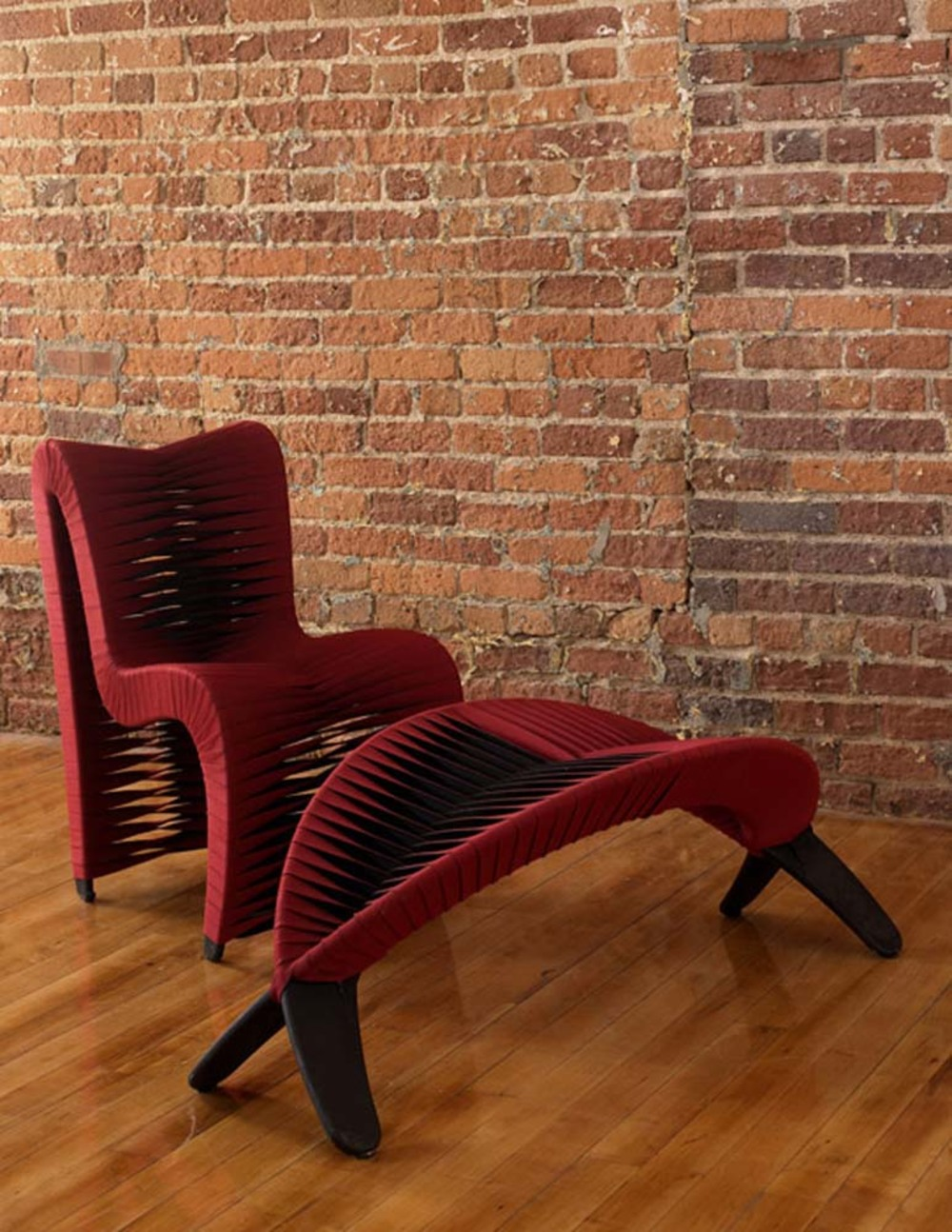 Phillips Collection - Seat Belt Dining Chair in Red