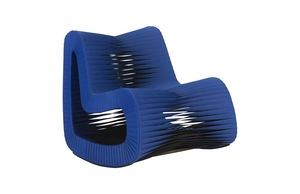 Thumbnail of Phillips Collection - Seat Belt Rocking Chair Blue/Black