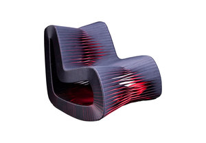 Thumbnail of Phillips Collection - Seat Belt Rocking Chair Black/Red