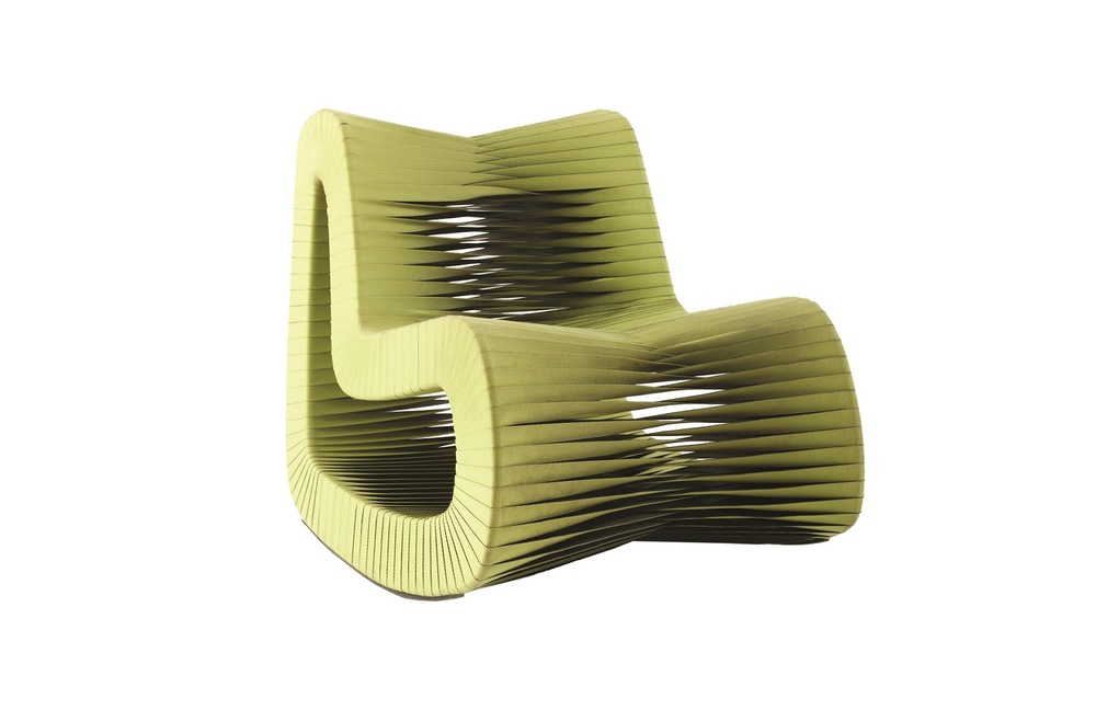 Phillips Collection - Seat Belt Rocking Chair Green