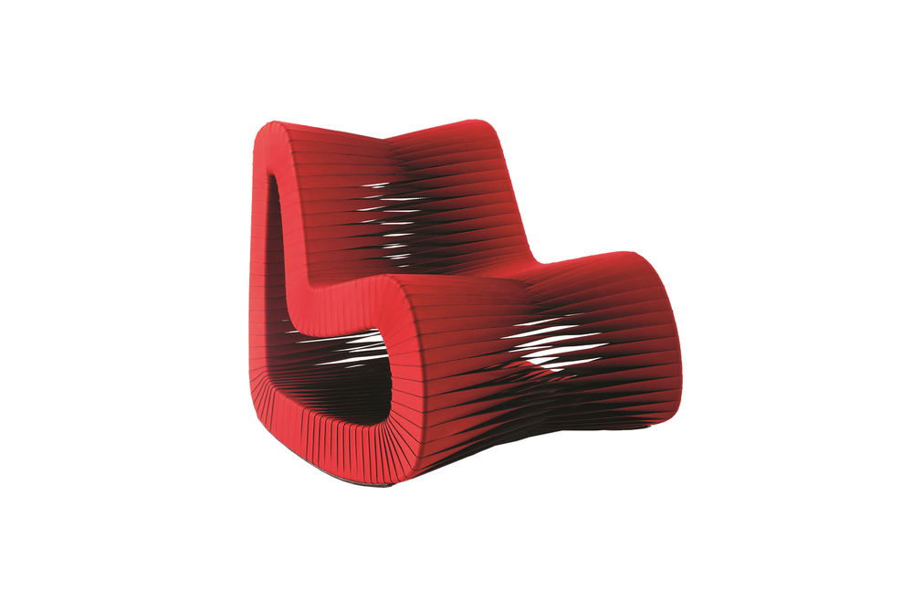 Phillips Collection - Seat Belt Rocking Chair in Red