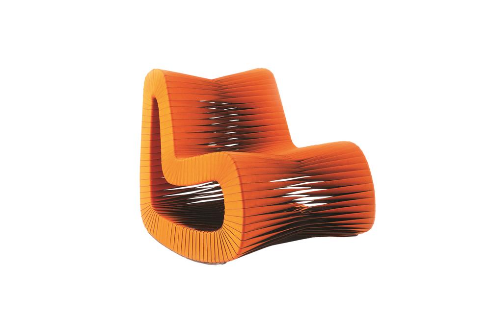 Phillips Collection - Seat Belt Rocking Chair in Orange