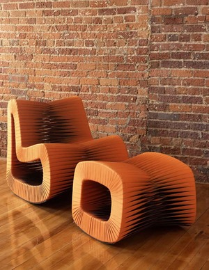 Thumbnail of Phillips Collection - Seat Belt Rocking Chair in Orange