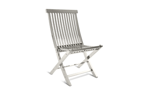 Thumbnail of Phillips Collection - Slatted Folding Chair in Stainless Steel