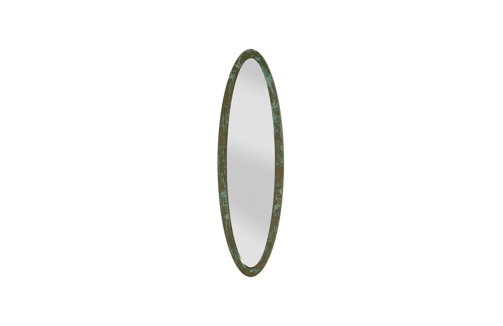 Phillips Collection - Elliptical Oval Mirror Small Lichen
