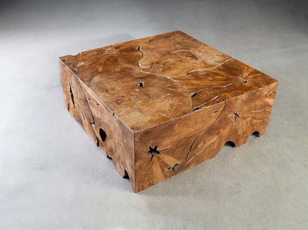 Phillips Collection - SquareTeak Slice Coffee Table