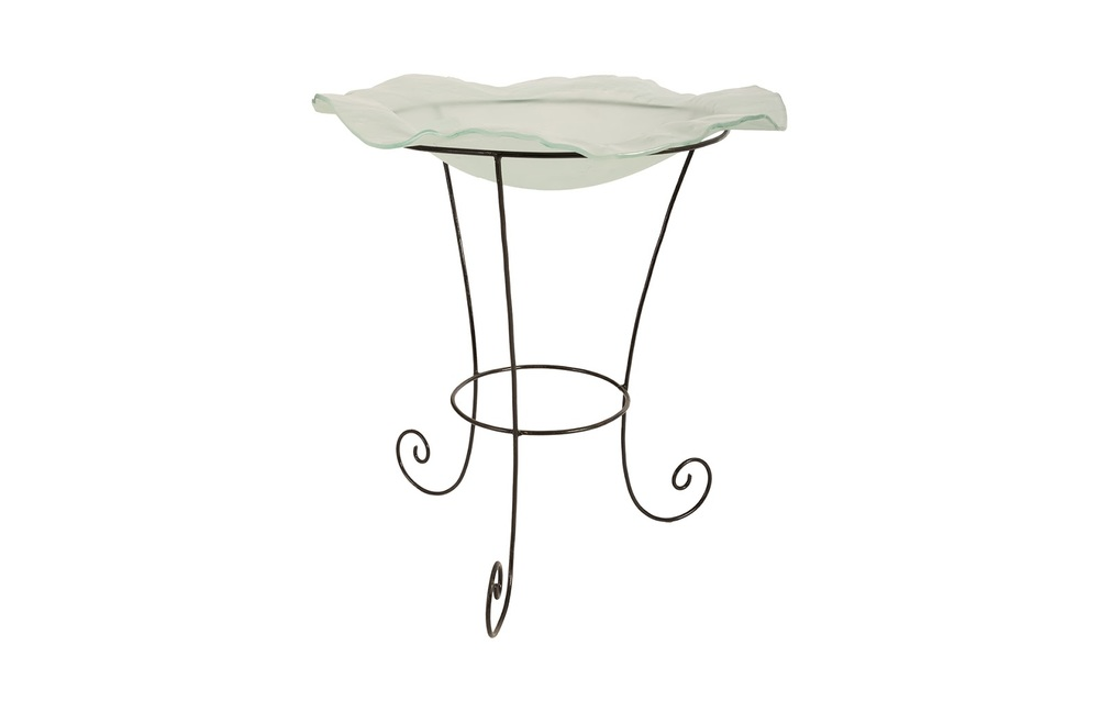 Phillips Collection - Frosted Glass Bowl on Stand Medium