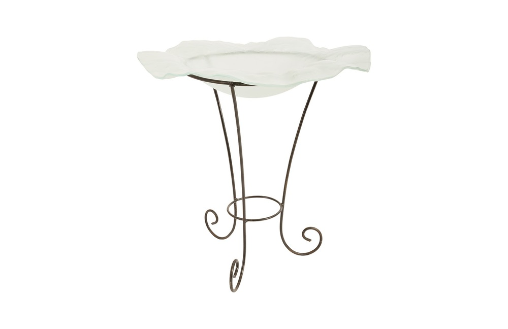 Phillips Collection - Frosted Glass Bowl on Stand SM