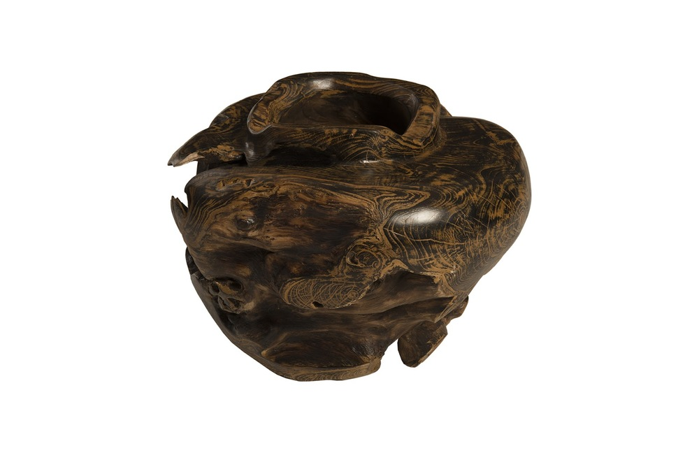 Phillips Collection - Teak Bowl Black Brown