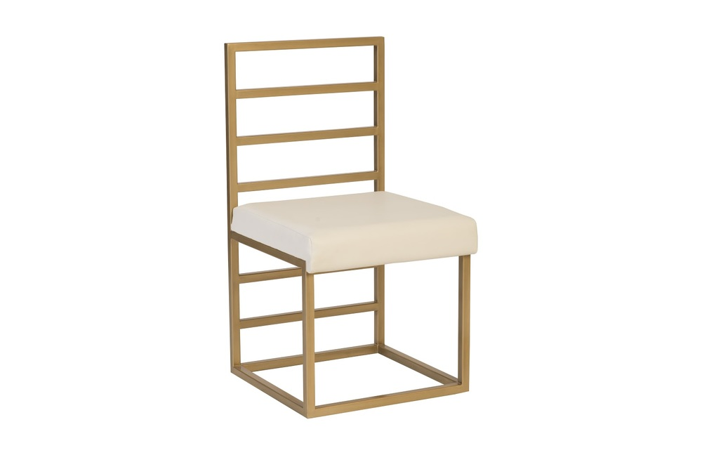 Phillips Collection - Ladder Dining Chair Natural/Brass