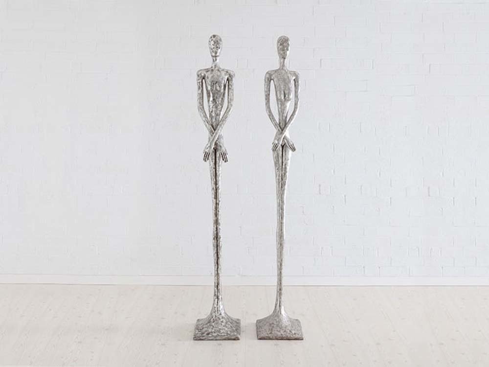 Phillips Collection - Skinny Female Sculpture in Silver