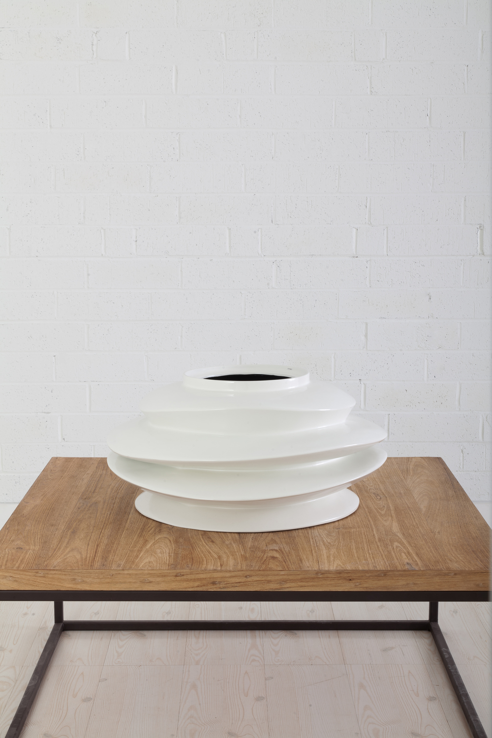 Phillips Collection - Short Spiral Bowl in White