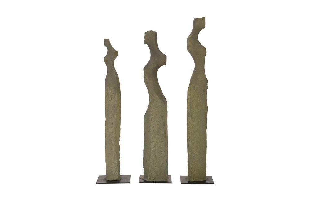 Phillips Collection - Cast Sculpture Women Stone Set/3