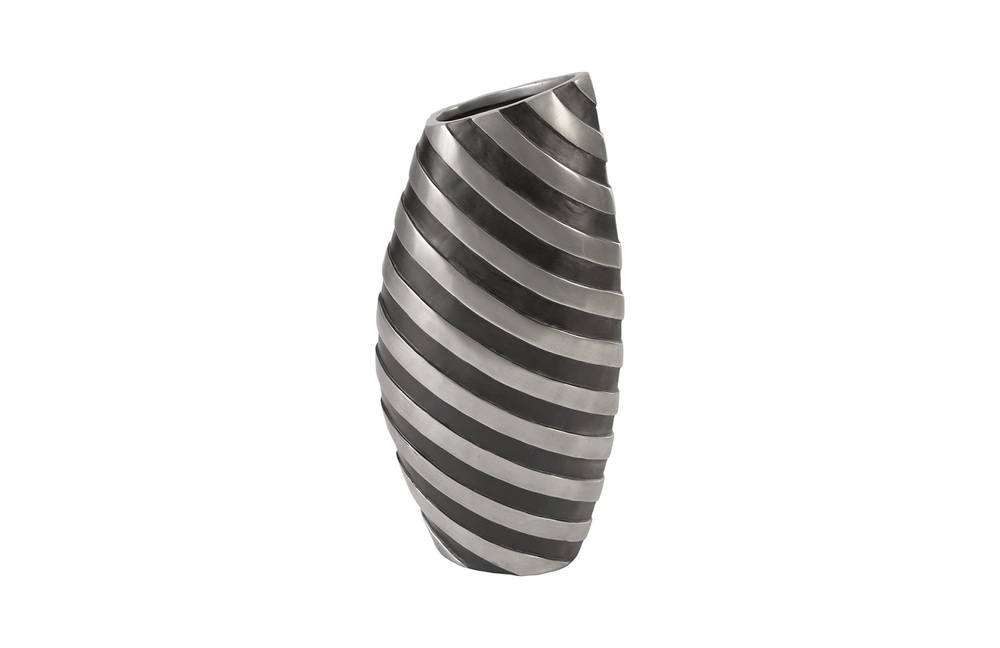 Phillips Collection - Turbo Vase Aluminum and Black