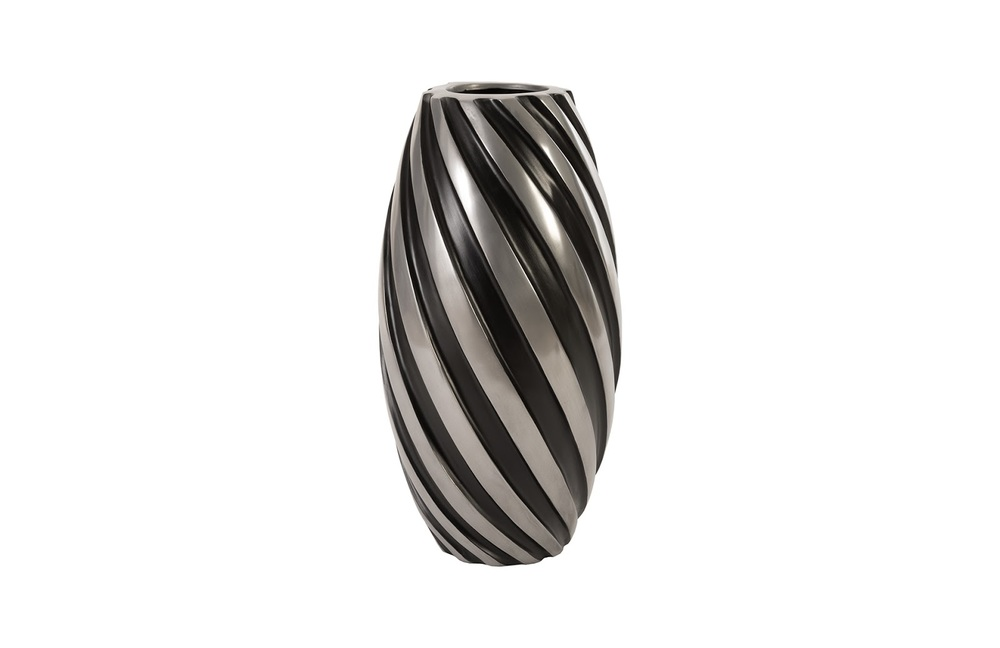 Phillips Collection - Turbo Vase Alumunim and Black