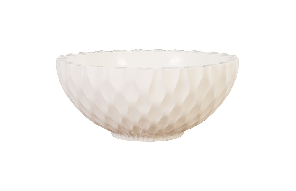 Phillips Collection - Agos Bowl Gel Coat White