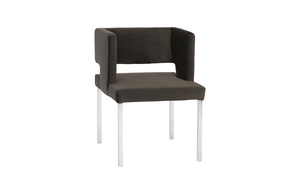 Thumbnail of Phillips Collection - Raffia Dining Chair with SS Legs Black Velvet