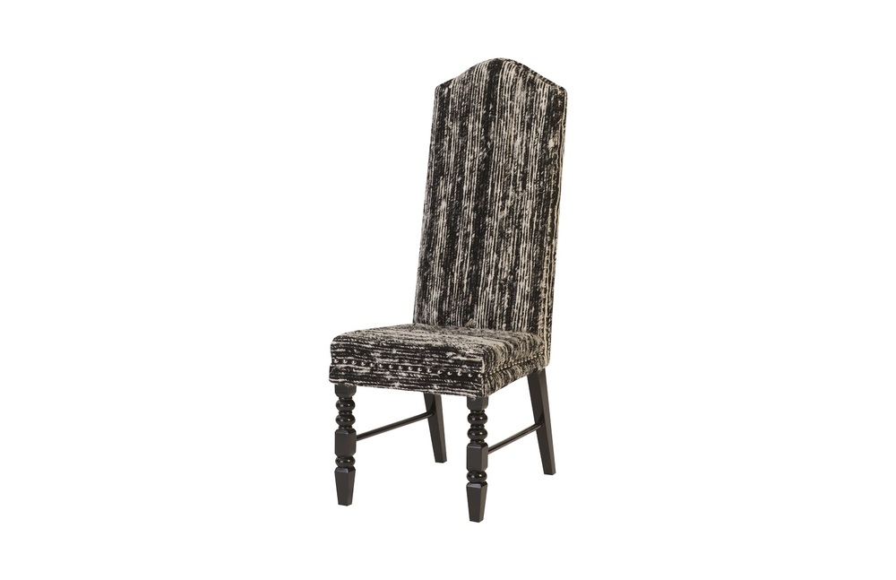 Phillips Collection - Manhattan Dining Chair with Black Wooden Legs Eco Viscose Black