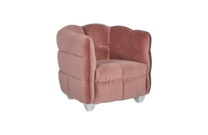 Thumbnail of Phillips Collection - Cloud Club Chair Coral Pink Fabric Stainless Steel Legs