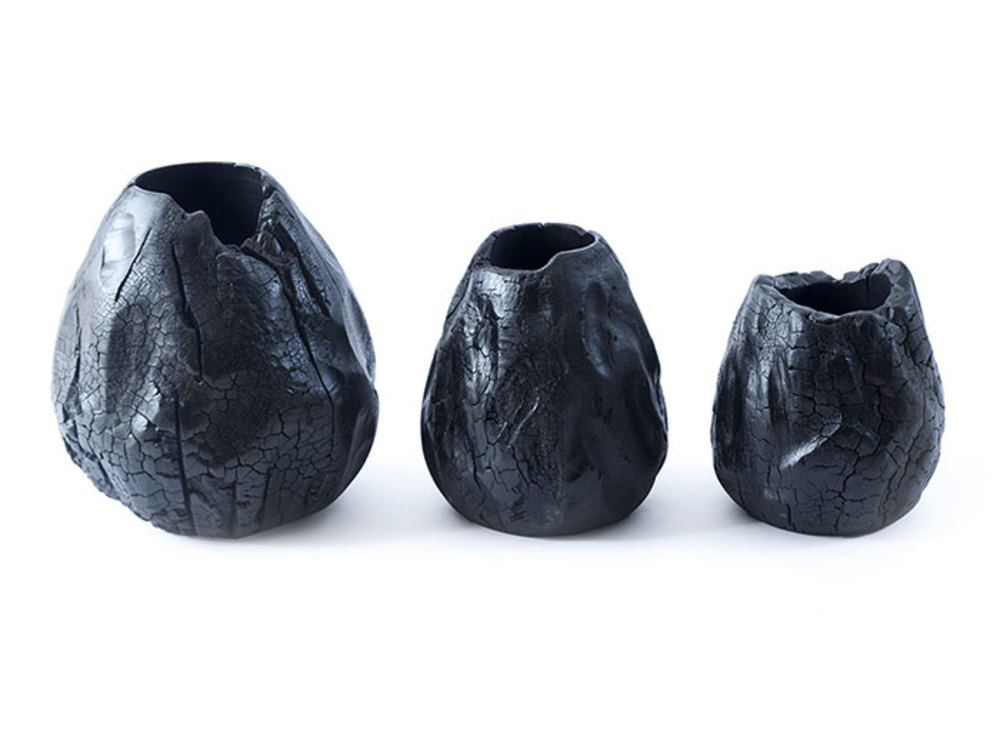 Phillips Collection - Burnt Hive Vases Set of 3