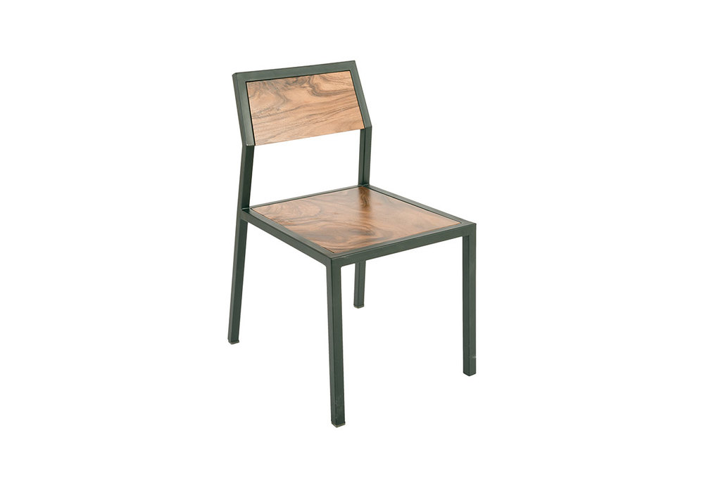 Phillips Collection - Crook Chair Chamcha Wood/Black Metal