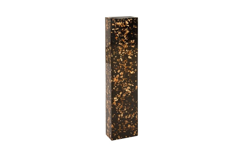 Phillips Collection - Captured Gold Flake Vase Black Large