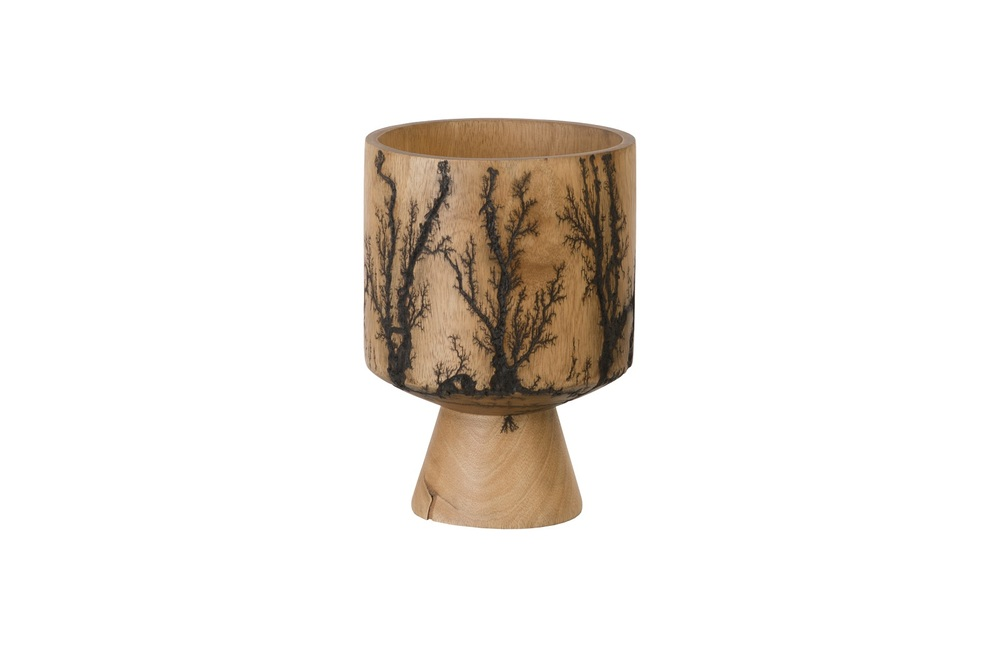Phillips Collection - Mango Wood Lightning Vase Cup Shape