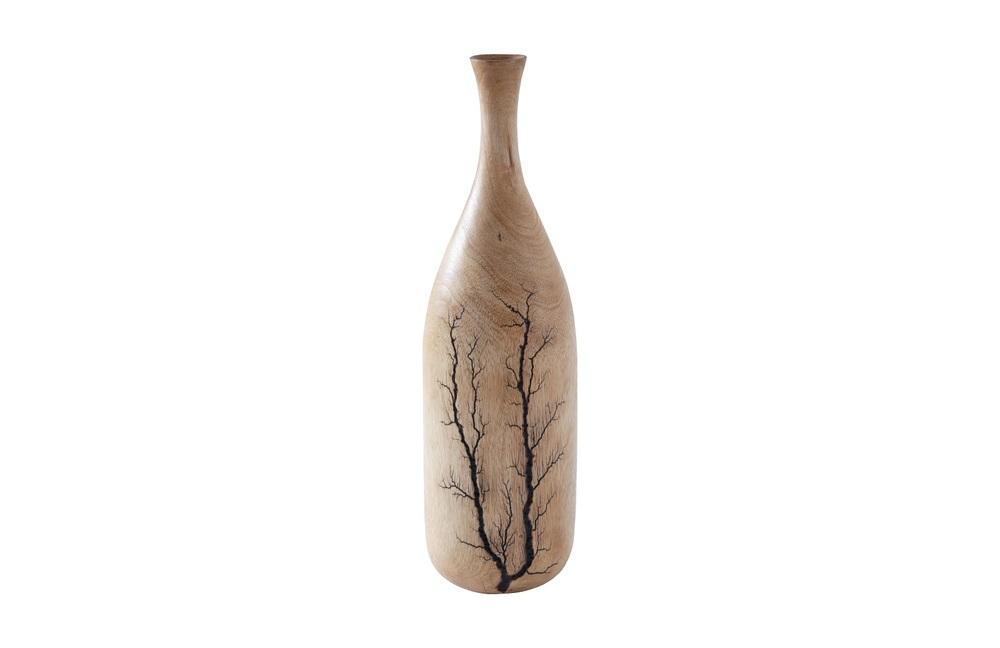 Phillips Collection - Lightning Bottle Mango Wood Curved Neck